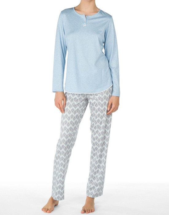 Calida Women Pyjamas, 44622, Lys blå