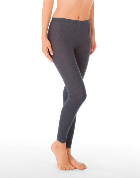 Calida Ull/Silke Leggings, Grå-27651